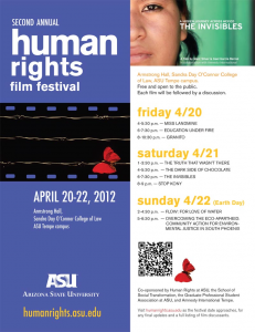 Second Annual Human Rights Film Festival, April 20-22