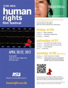 Second Annual Human Rights Film Festival, April 20-22