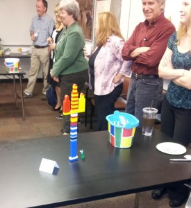 A Sun Devil Pitchfork created by one of the teams at the Engineering Team Building Event.