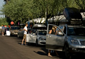 Traffic congestion during move-in