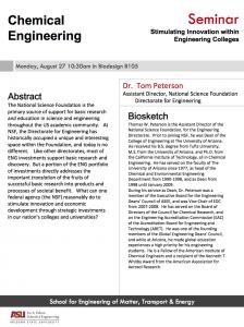 NSF seminar Thomas Peterson