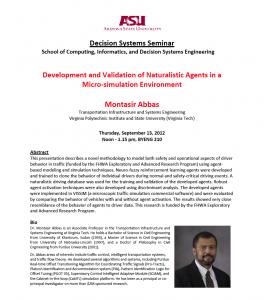 Montasir Abbas Seminar