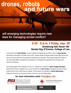 Drones, robots and future wars, Sept. 28
