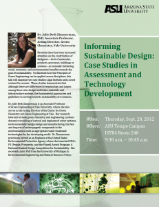 Informing Sustainable Design, September 20
