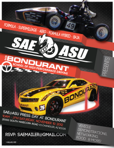 SAE Press Day at Bondurant School of High Performance Driving