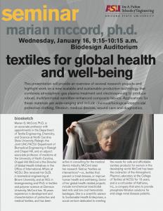 Marian McCord seminar, January 16, 2013