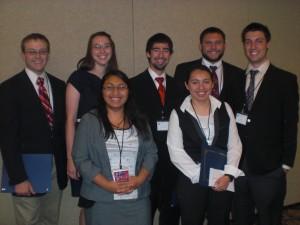 Daedalus team members (front) Deyzi Ixtabalan, Ruby Gomez, (back) Gaines Gibson, Lauren Brunacini, Donovan Stallings, Jesse Banks and Joey Paz.
