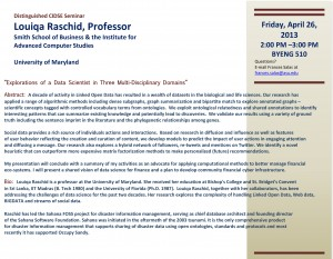 Louiqa Raschid Seminar