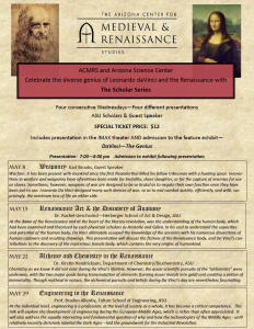 ACMRS and Arizona Science Center celebrate the diverse genius of Leonardo daVinci and the Renaissance.