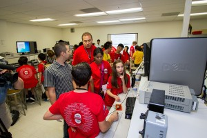 Broadcom MASTERS students visit Connection One I/UCRC at ASU on May 13, 2013.