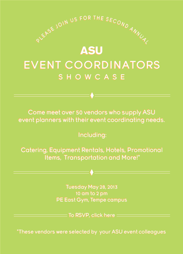 ASU Event Coordinators Showcase, May 28