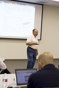 Regents' Professor Douglas Montgomery leads a class in the Master Black Belt certification program.
