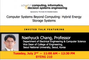 Naehyuck Chang, July 2, BYENG 210