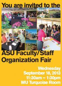 Faculty Staff Org Fair, Sept. 18