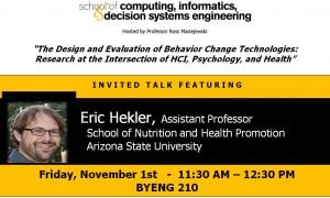 Eric Hekler, Nov. 1