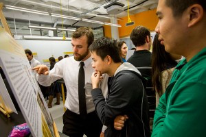 FURI participants present their research at the bi-annual poster symposium.