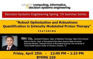 Wei Liu, April 25, noon, BYENG 210