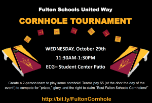 Support United Way at the Fulton Schools Cornhole Tournament