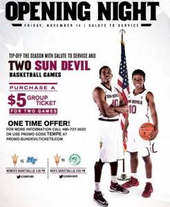 Sun Devil Basketball Salute to Service, Nov. 14