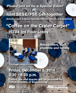 Coffee on the Crater Carpet, Dec. 5, 3:30 p.m., ISTB4