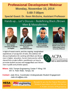 Webinar on engaging Black and Brown men in higher education