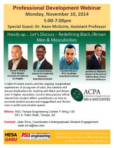 Webinar on engaging Black and Brown men in higher education
