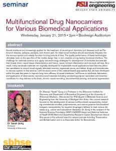 Sarah Gong, Jan. 21, 2 p.m., Biodesign Auditorium