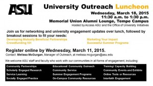 University Outreach Lunch