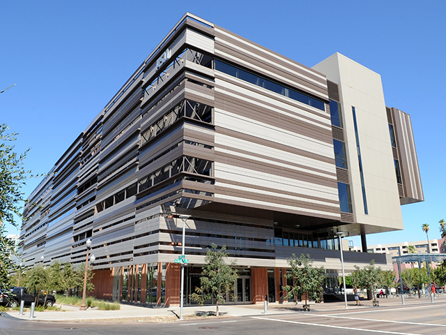 The College Avenue Commons building on ASU's Tempe campus.
