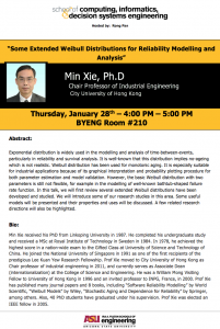 Min Xie seminar