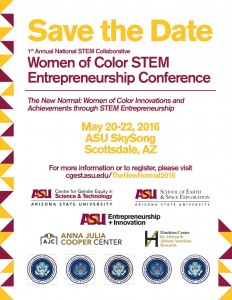 Women of Color STEM Entrepreneurship Conference Save the Date
