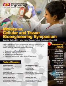 Molecular, Cellular and Tissue Bioengineering Symposium flier