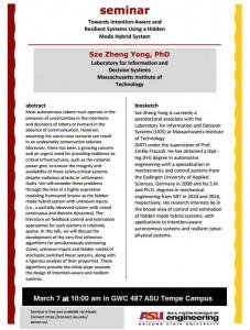 Sze Zheng Yong seminar flier