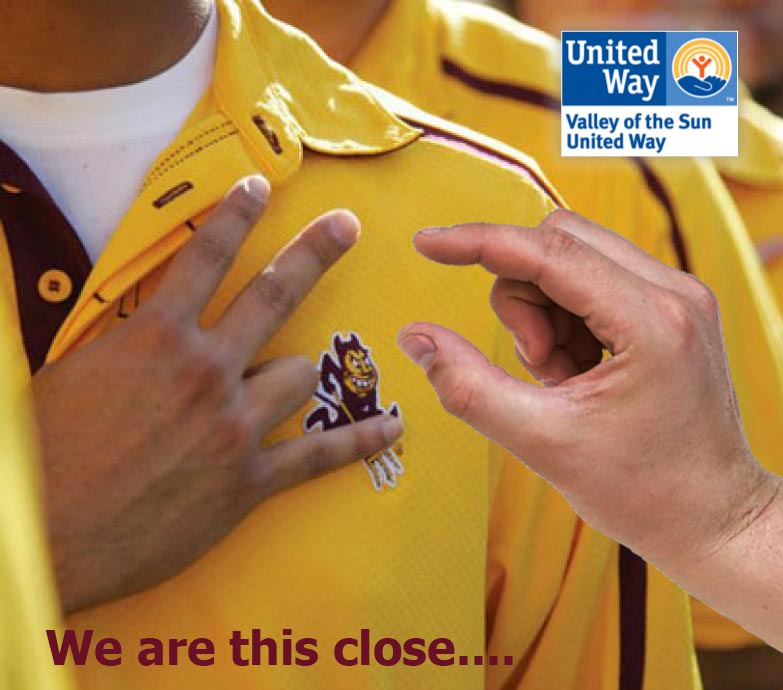 United Way This Close