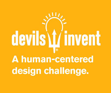 This graphic says Devils Invent: A human-centered design challenge