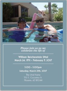 Memorial service flier for William R. Uttal