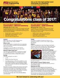 Convocation guide flier