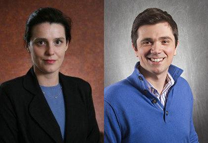 Portraits of Erica Forzani and Visal Berisha