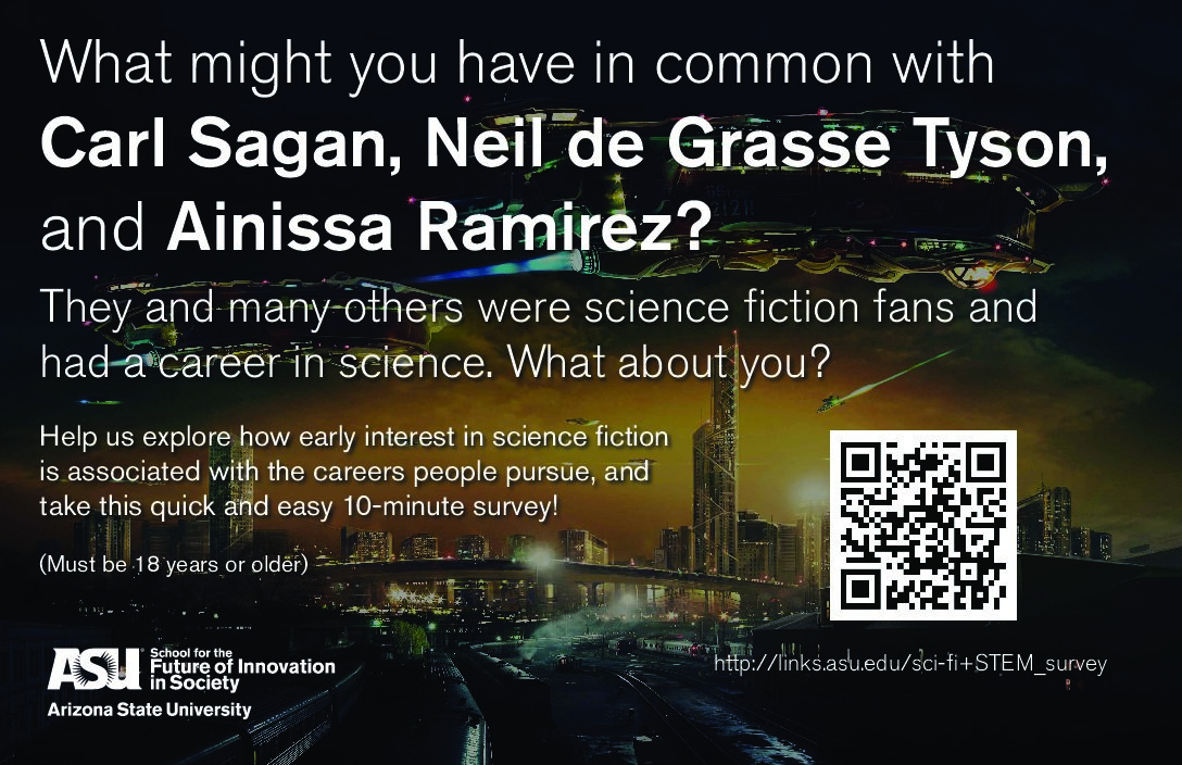 Information about a survey to see what you have in common with Carl Sagan, Neil de Grasse Tyson and Ainissa Ramirez