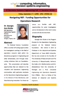 Navigating NSF September 1 event flier