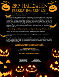 Halloween Decorating Contest 2017 flier