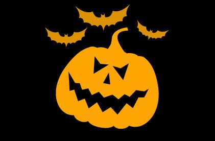 Jack-O-Lantern and bats