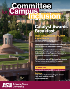 Catalyst Awards Breakfast flier