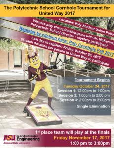 Polytechnic campus United Way Cornhole Tournament flier