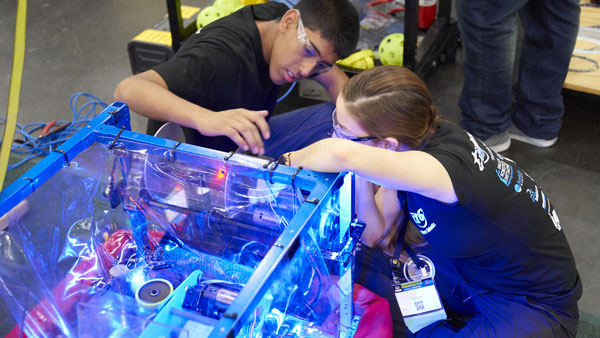 FIRST Robotics Competition photo by Dan Donovan, courtesy of FIRST Robotics Competition.