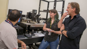 Graduate students work in Michael Kozicki's lab