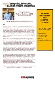 Doug Sanders Sprouts talk flier