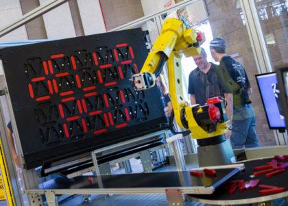 Robotic demonstration that spells Delta ASU.