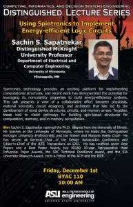 Sachin Sapatnekar seminar flier