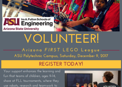 Volunteer for FIRST LEGO League